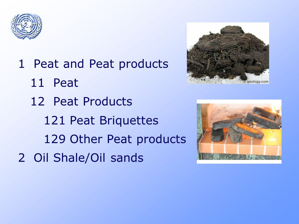 Secondary products Coal Coke Patent Fuel Brown Coal Briquettes Coal Tar Coke oven Gas Gas Works Gas Recovered Gases Other coal products Peat Briquettes Other Peat products Primary Products Hard Coal Anthracite Coking coal Other bituminous coal Brown Coal Lignite Sub-bituminous coal Peat Oil Shale/Oil sands
