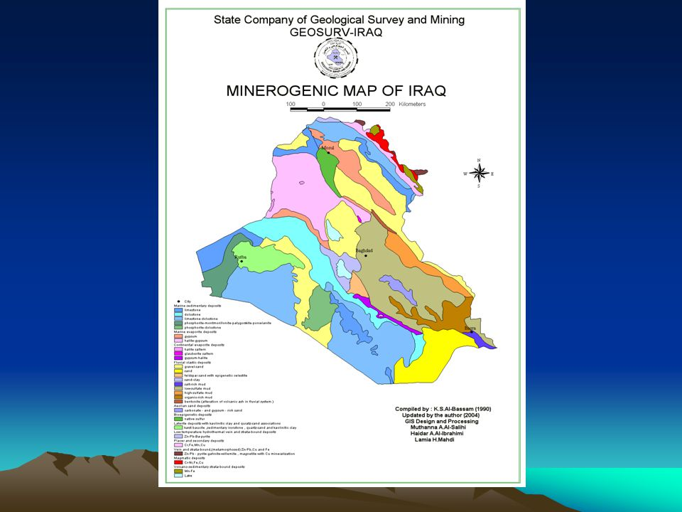 The mineral resources of Iraq were explored by various companies:- * Site Investigation Co.
