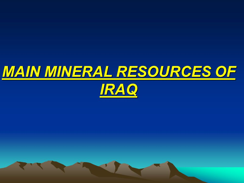 Chromium & Nickel: Chromium & Nickel: Numerous showings of Ni- rich chromites are found in the basic and ultrabasic igneous complexes of the Zagros Suture Zones, especially in Mawat.