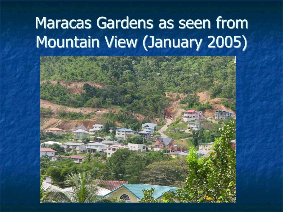 Maracas Gardens as seen from Mountain View (January 2005)