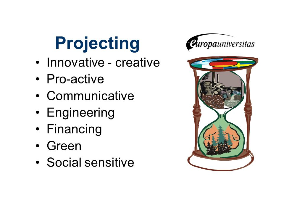 Projecting Innovative - creative Pro-active Communicative Engineering Financing Green Social sensitive