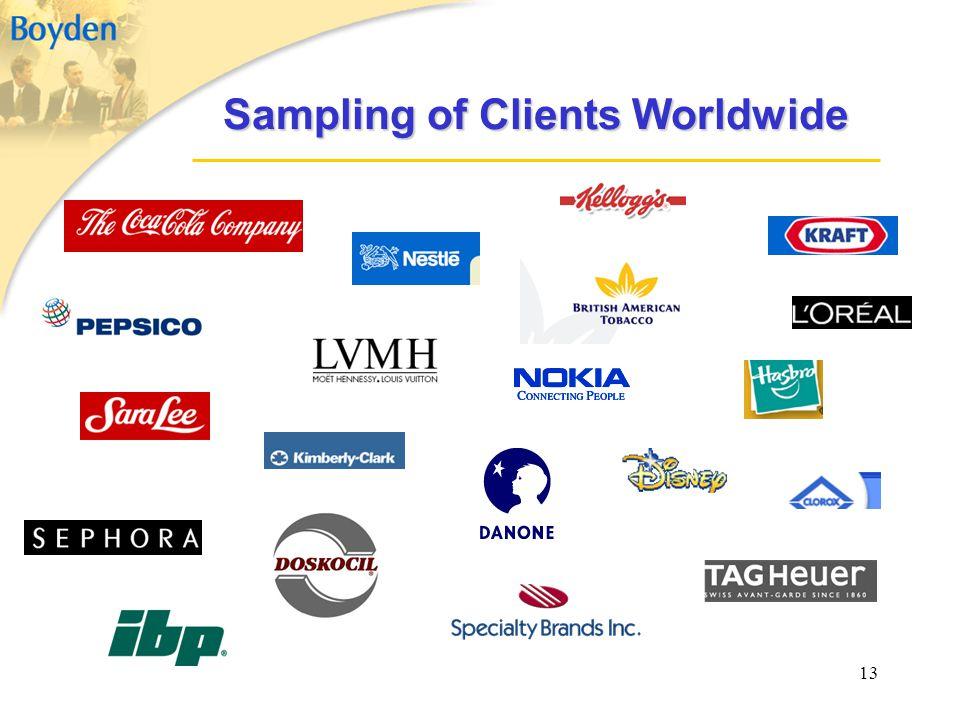 13 Sampling of Clients Worldwide