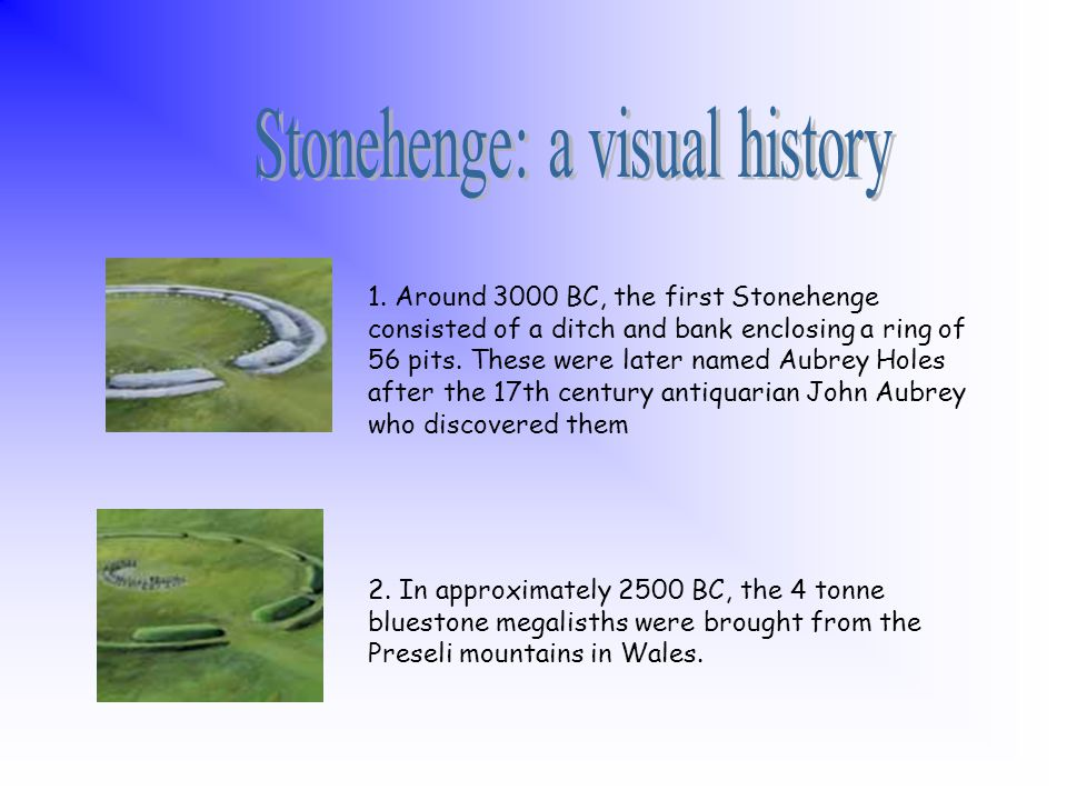 Three kilometres to the north-east of Stonehenge, Woodhenge is another henge monument. Dated to around 2,300BC, originally it comprised six concentric