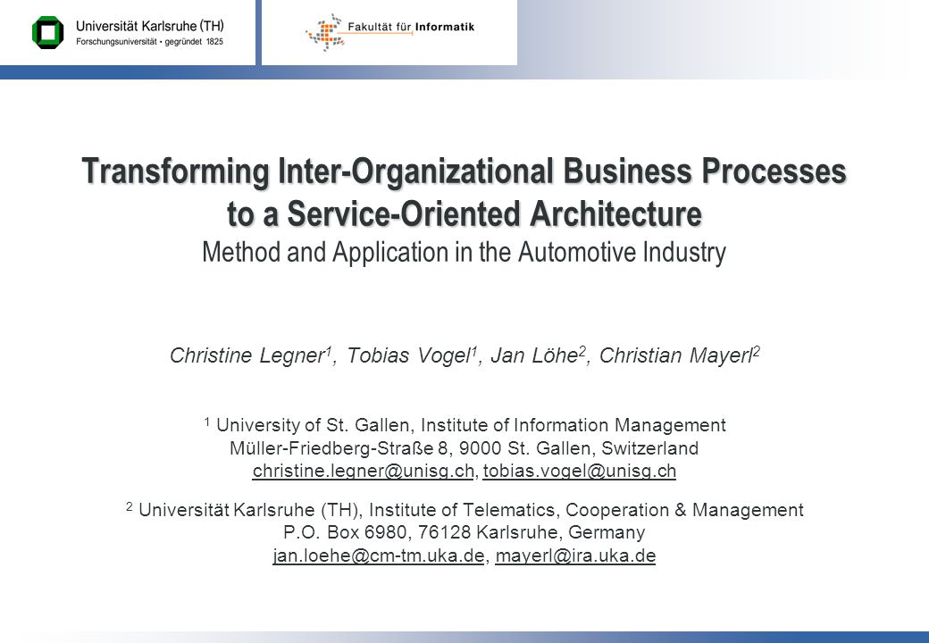 26.02.-02.03.2007 KiVS2 OVERVIEW Introduction Background Our Approach  Step 1 – Modeling Inter-Organizational Processes  Step 2 – Aligning Private to Public Processes  Step 3 – Developing Business Services Conclusion Outlook