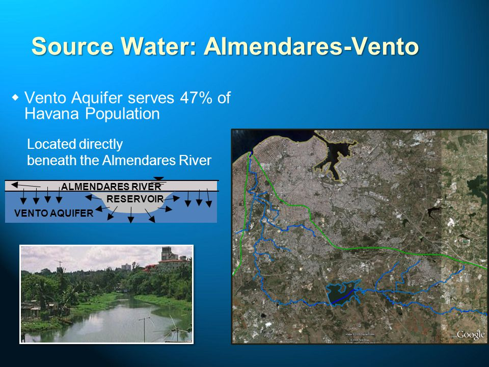 Major Contaminant Sources Almendares River Vento Aquifer Reservoir Papelera Nacional Cubana Near Puentes Grandes