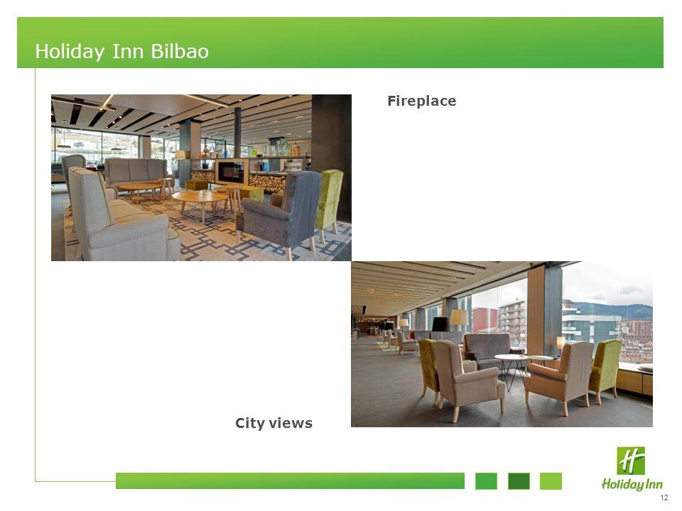 12 Holiday Inn Bilbao Fireplace City views