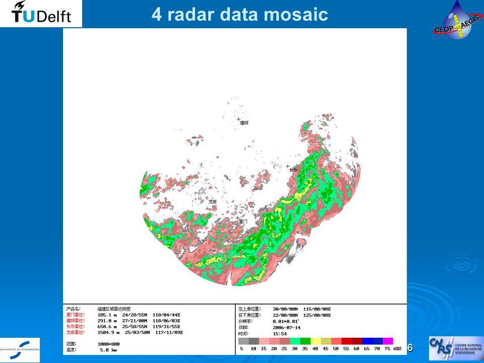 1st Progress Meeting - Milano June 29, July 2 2009 16 4 radar data mosaic
