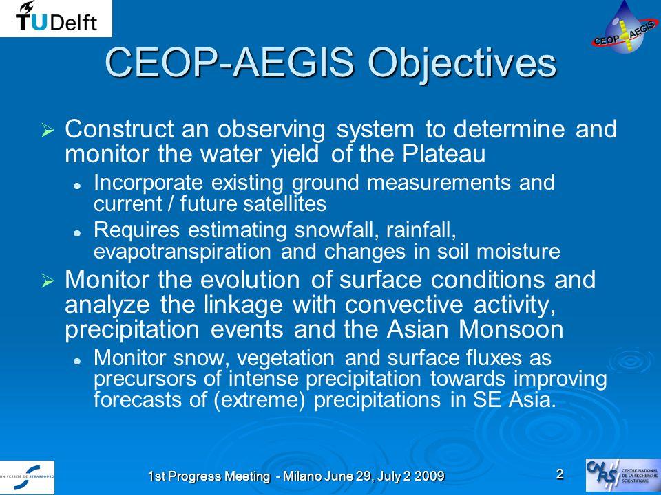 1st Progress Meeting - Milano June 29, July 2 2009 23 Long-term changes of meteorological factors (1966-2003)
