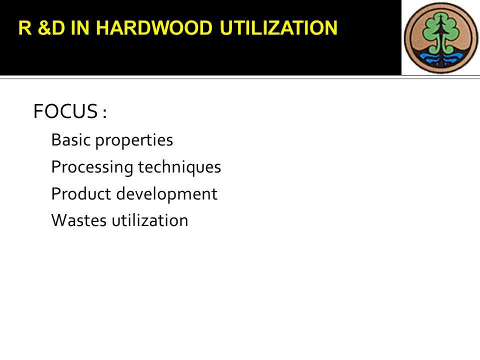 FOCUS : Basic properties Processing techniques Product development Wastes utilization