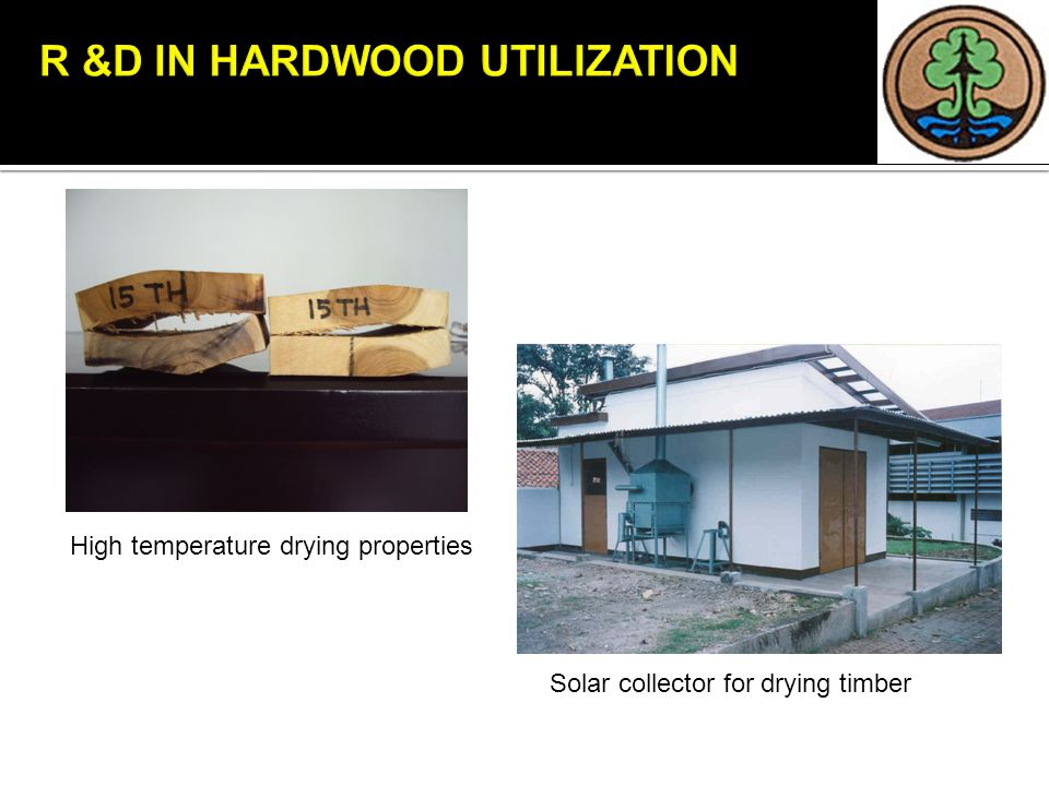 High temperature drying properties Solar collector for drying timber