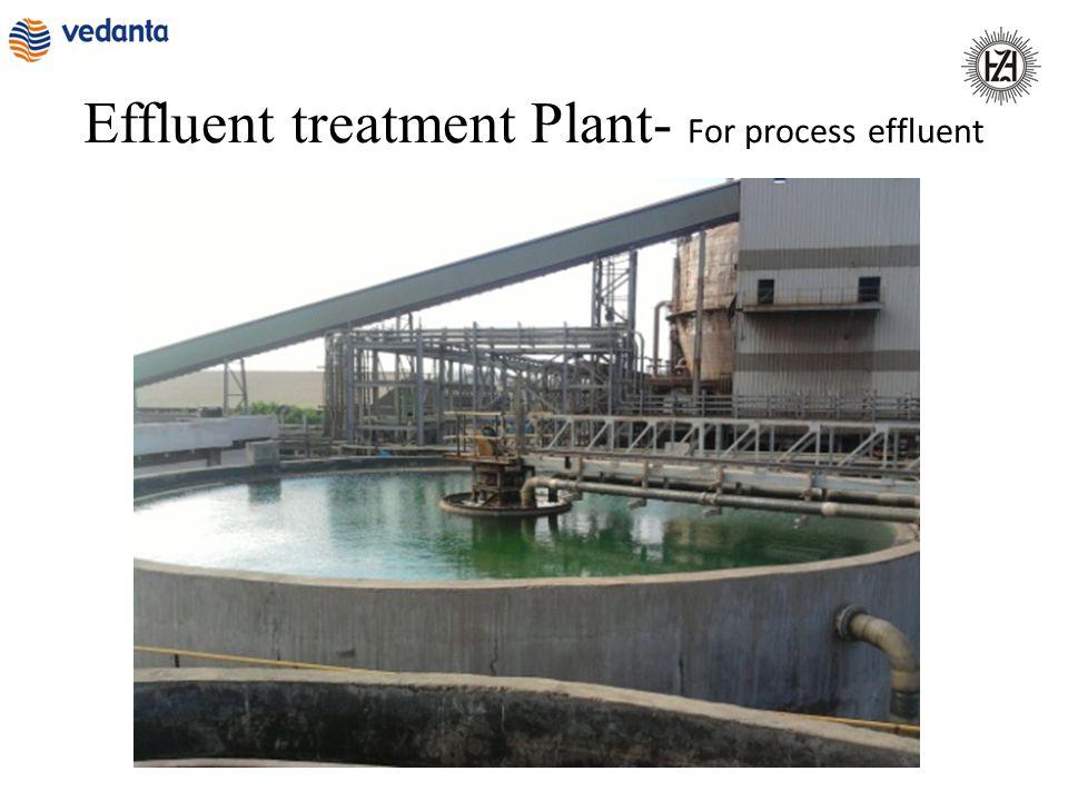Effluent treatment Plant- For process effluent