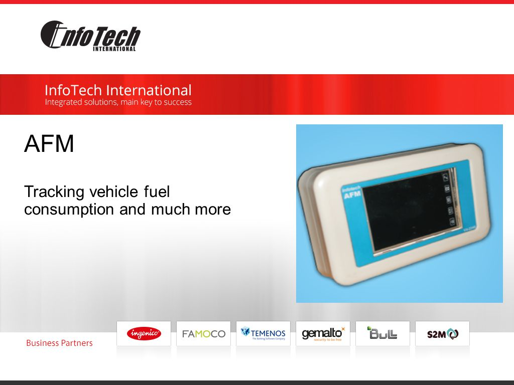 AFM Tracking vehicle fuel consumption and much more