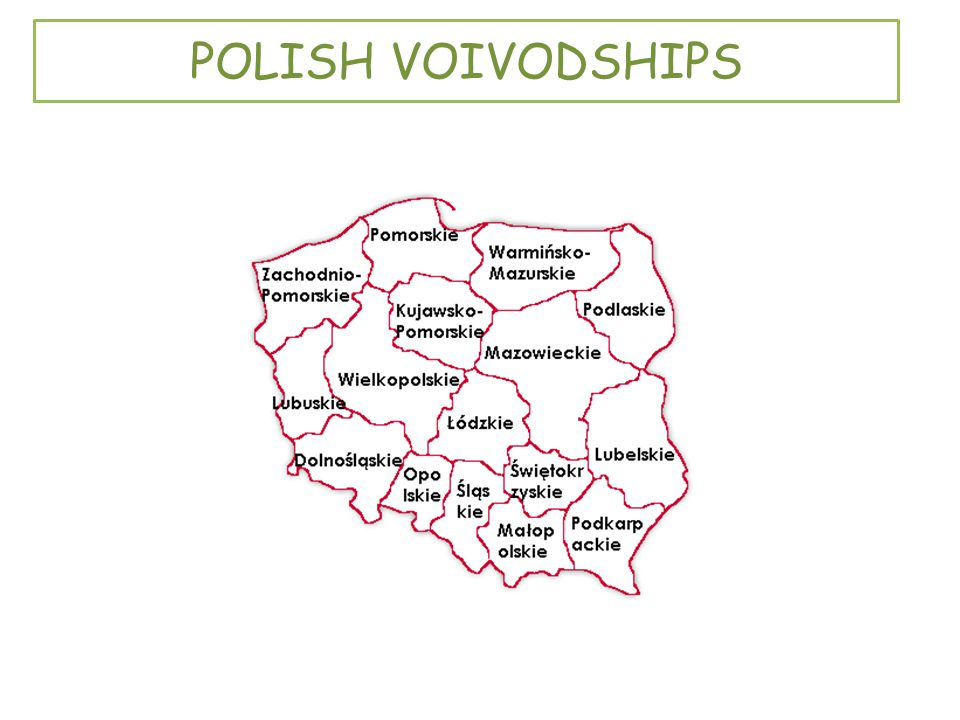POLISH VOIVODSHIPS