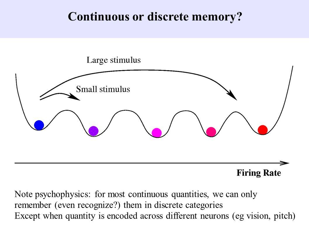 Continuous or discrete memory.