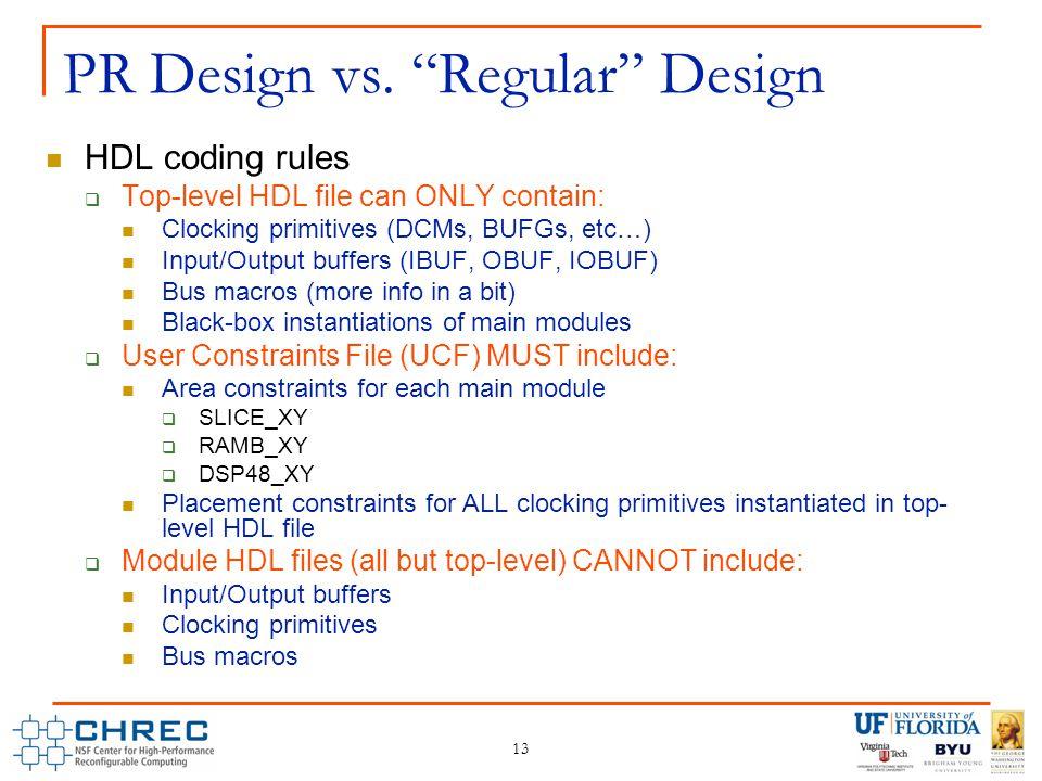 13 PR Design vs.