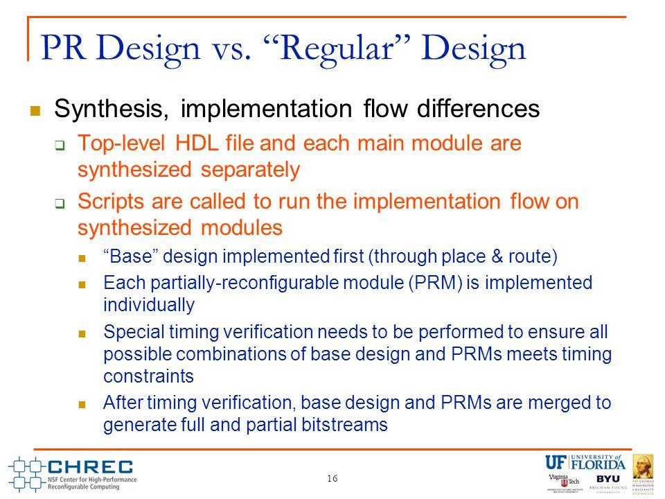 16 PR Design vs.