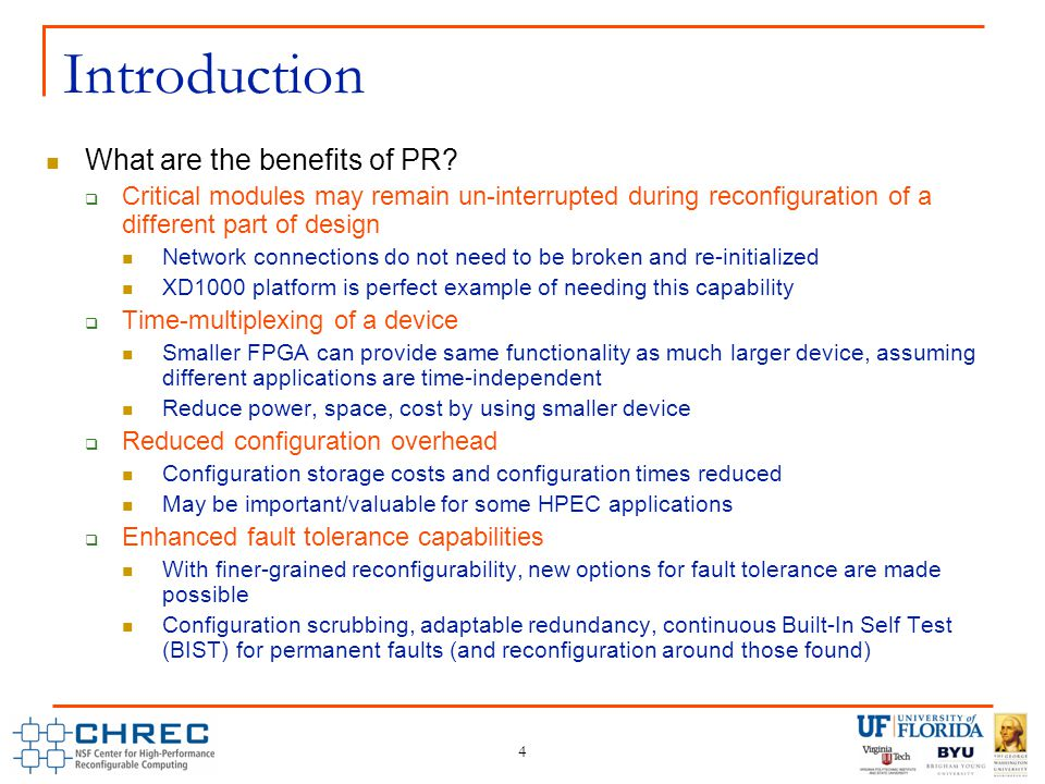 4 Introduction What are the benefits of PR.