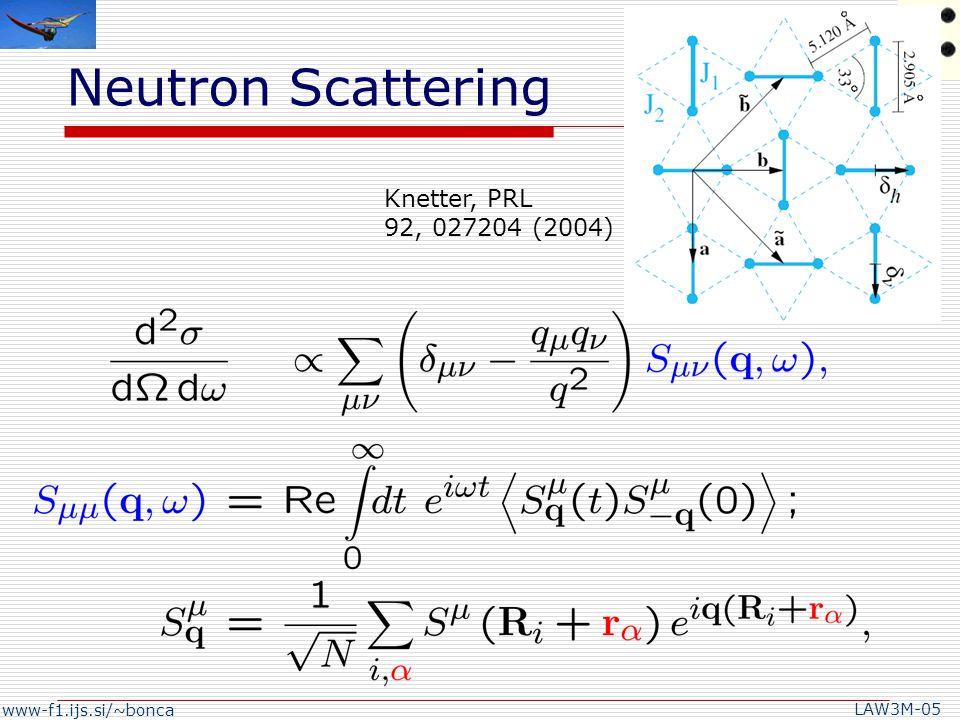 www-f1.ijs.si/~bonca LAW3M-05 B||c B||a H. Nojiri, et al.,J. Phys. Soc. Jpn. 72, 3243 (2003).