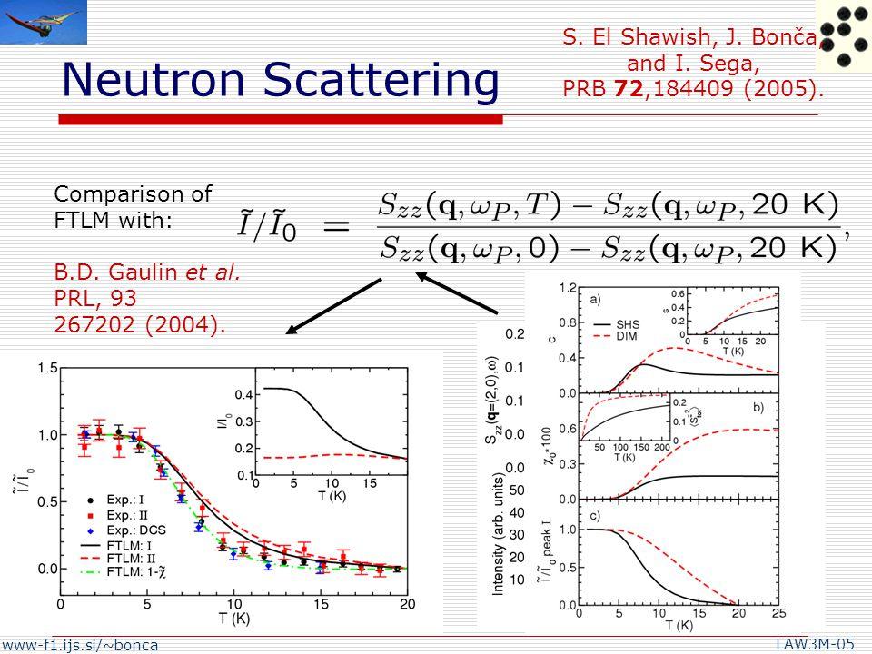 www-f1.ijs.si/~bonca LAW3M-05 Dimer model: J'=0,J= D =34K