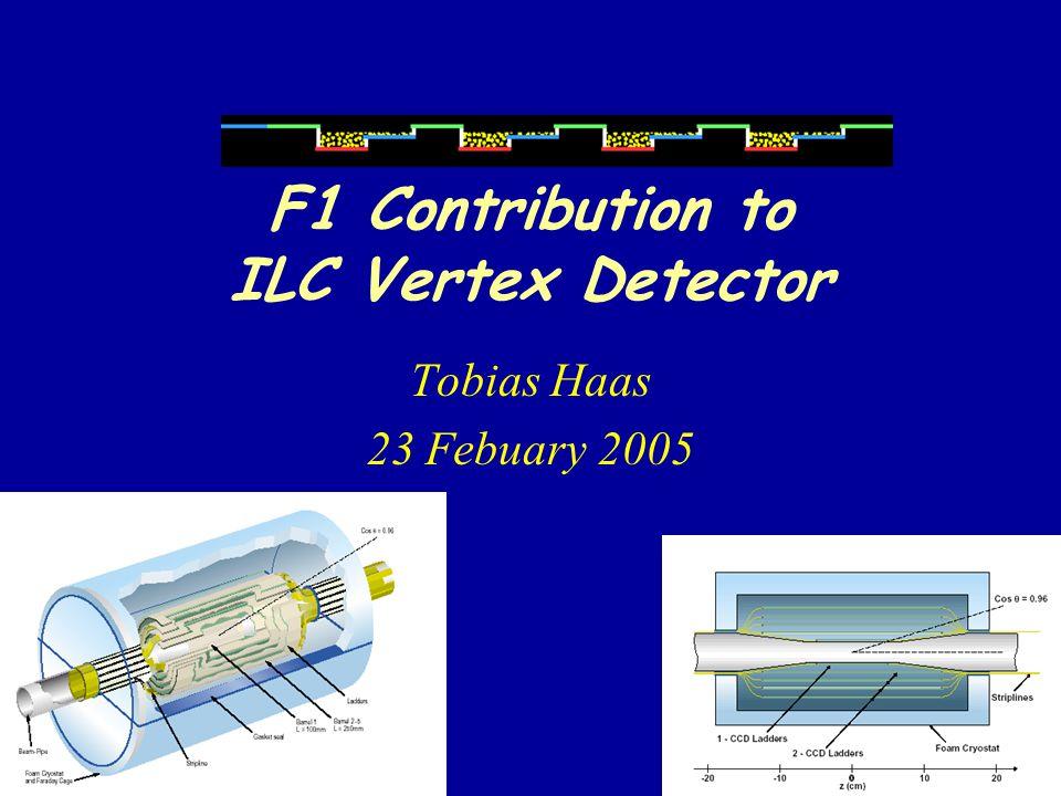 F1 Contribution to ILC Vertex Detector Tobias Haas 23 Febuary 2005