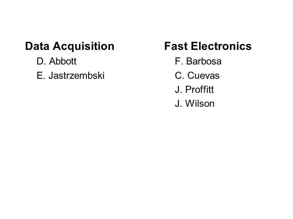 Data AcquisitionFast Electronics D. Abbott F. Barbosa E.
