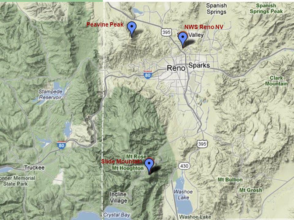 Peavine Peak Slide Mountain NWS Reno NV