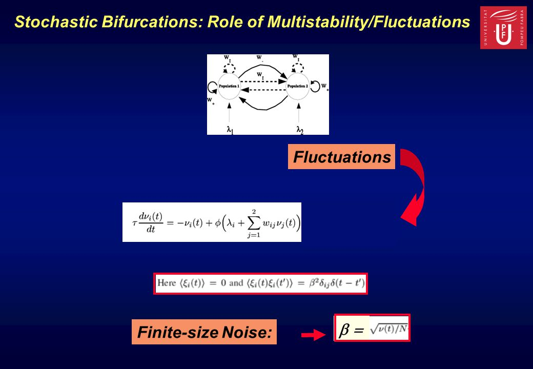 Stochastic Bifurcations: Role of Multistability/Fluctuations Finite-size Noise:  Fluctuations