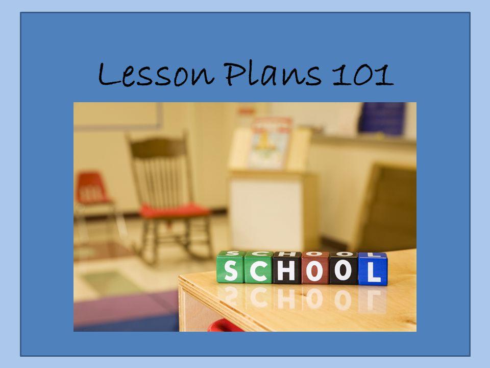 Lesson Plans 101