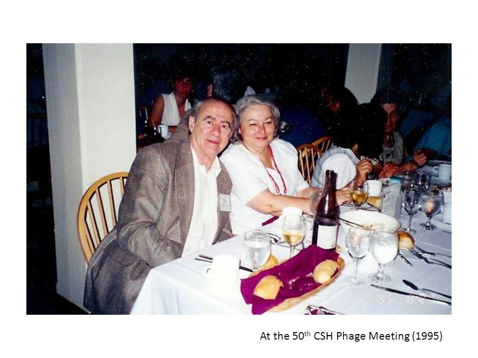 At the 50 th CSH Phage Meeting (1995)