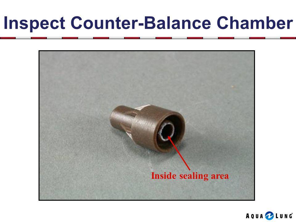 Inspect Counter-Balance Chamber Inside sealing area