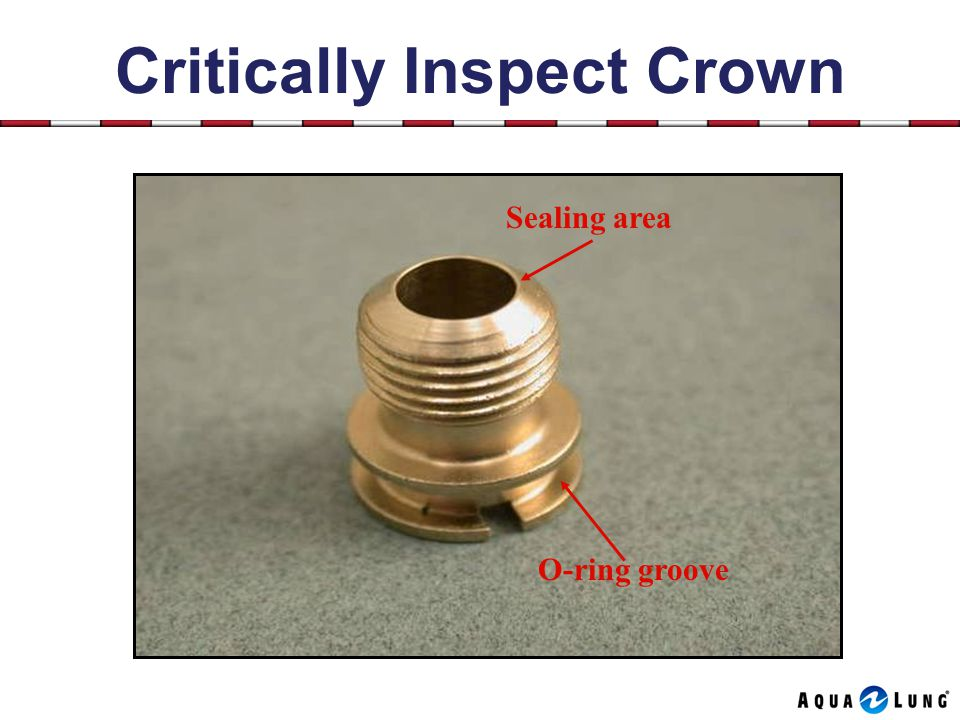Critically Inspect Crown Sealing area O-ring groove