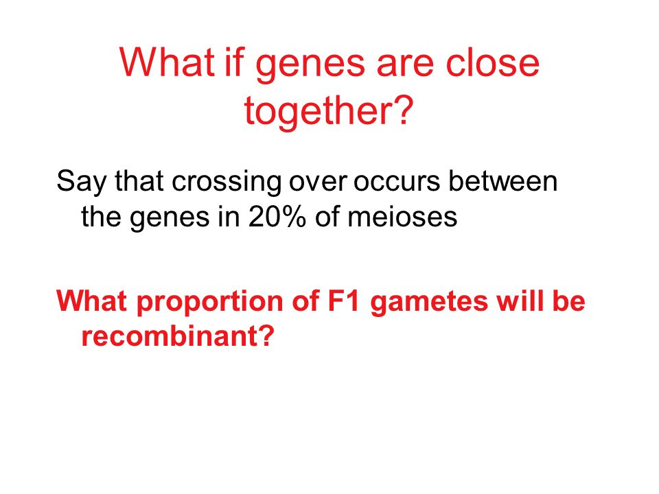 Genes that are so far apart on the same chromosome that crossing over occurs between them in 100% of meioses behave as if they are unlinked: _____ par