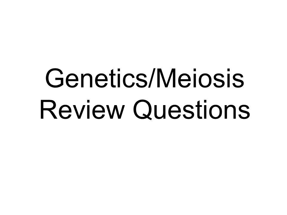 Genetics/Meiosis Review Questions