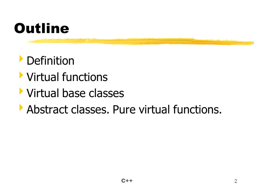 C++ 33 Abstract Classes.