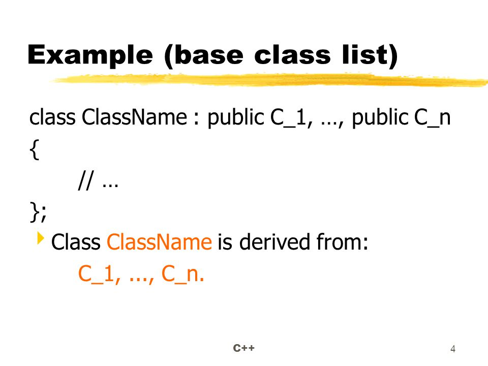 C++ 15 The Animal Class #include using namespace std; class Animal { protected: char name[20]; public: Animal(char* n); };