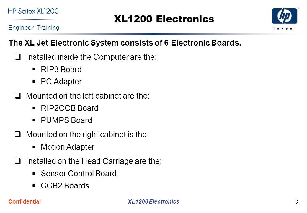 Engineer Training XL1200 Electronics Confidential 23 Sensor Control Board (Cont.)
