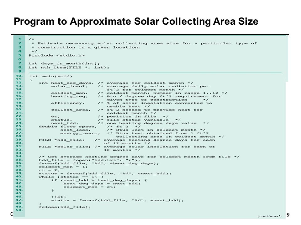 CP104 Introduction to Programming Repetition and loop Lecture 15 __ 9 Program to Approximate Solar Collecting Area Size