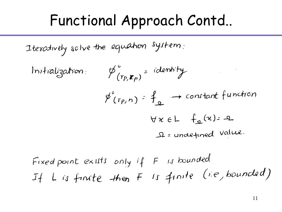 Functional Approach Contd.. 11