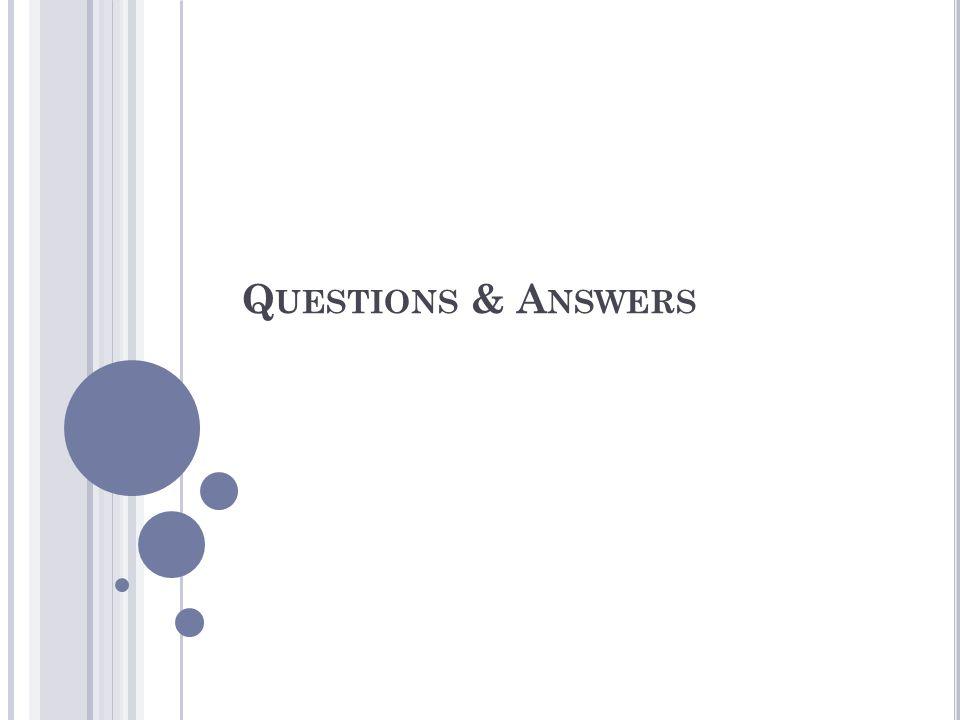 Q UESTIONS & A NSWERS