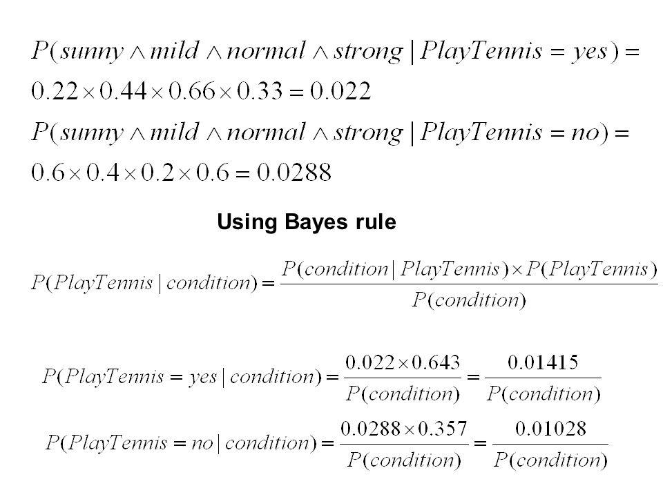 Using Bayes rule