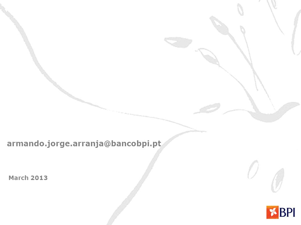 March 2013 armando.jorge.arranja@bancobpi.pt