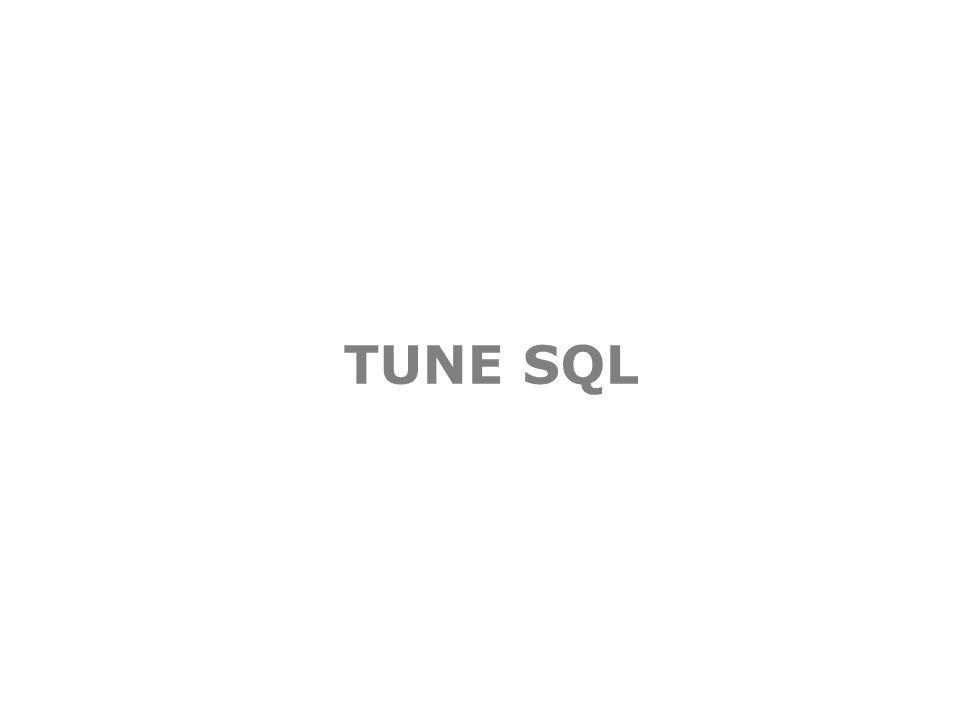 TUNE SQL
