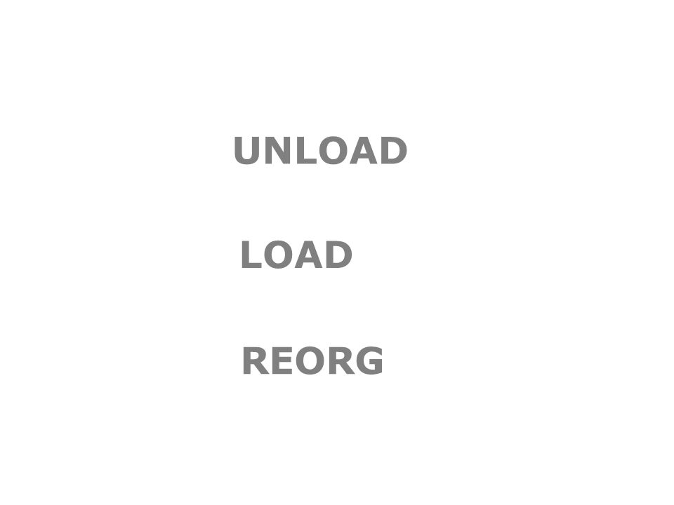 UNLOAD LOAD REORG