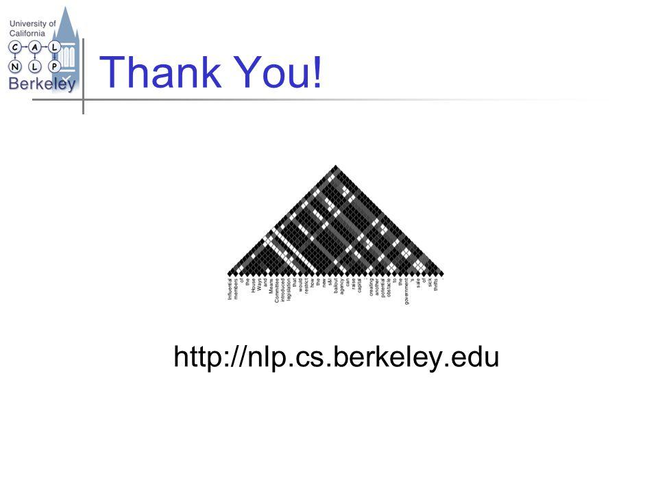 Thank You! http://nlp.cs.berkeley.edu
