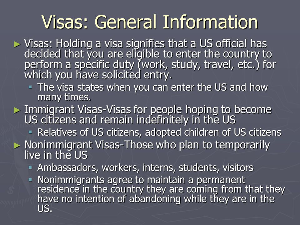 Application Process ► First, call the US embassy in your country and find out if you need to make an appointment for the interview or for turning in your visa application.