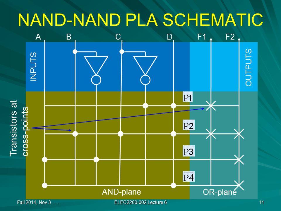 NAND-NAND PLA SCHEMATIC Fall 2014, Nov 3...
