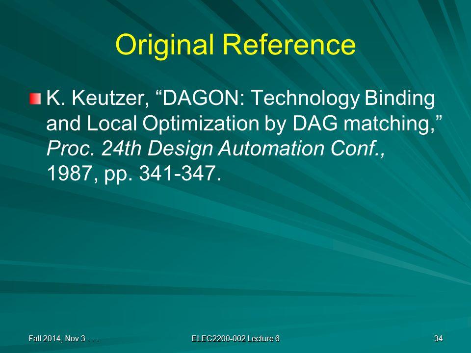 Original Reference K.