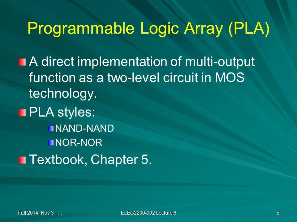 Circuit is a Directed Acyclic Graph (DAG) Fall 2014, Nov 3...