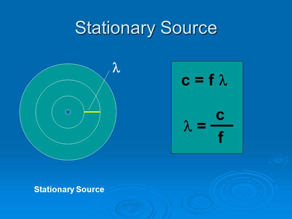 Stationary Source c = f = c f