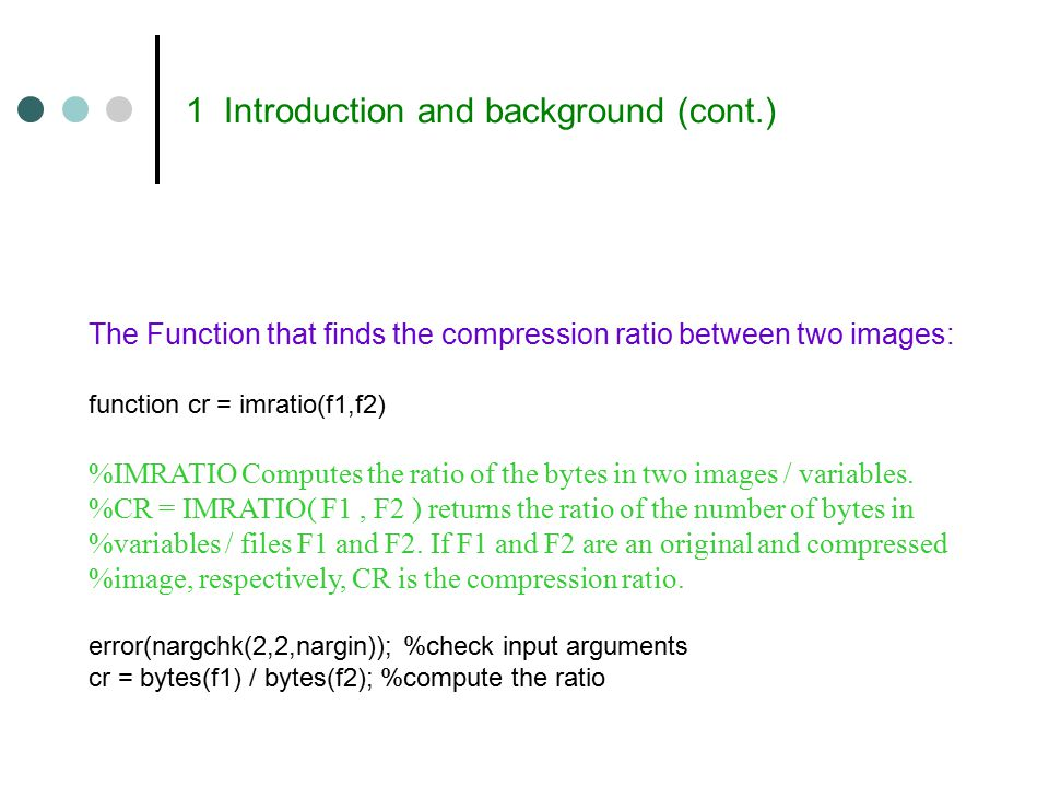 Decompression: Iteration-1